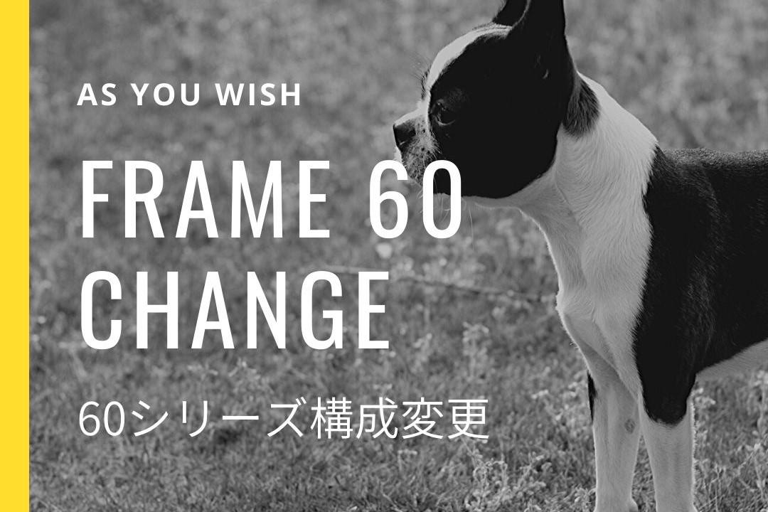 60シリーズ:メッシュ枠(幅900mm)1枚をアクリル枠(幅900mm)に変更
