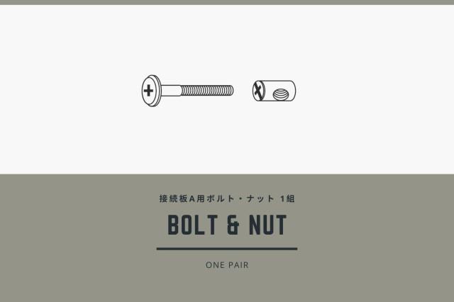 接続板A用ボルト・丸ナット(1組)