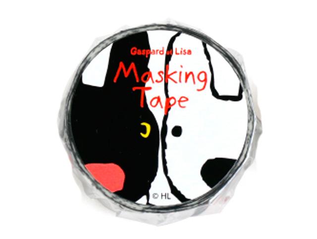 Kikka for mother リサとガスパール マスキングテープ (フェイス) KL00003-2