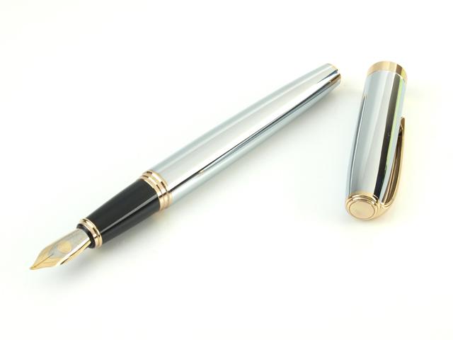 トライアングル万年筆 デコペン 「絆」 鏡銀