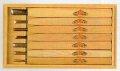 三木章 彫刻刀 桐箱入 7本組 140043