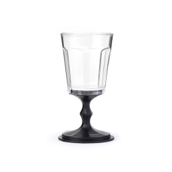 "Stackable Wine Glasses set of 2 ""Black"""