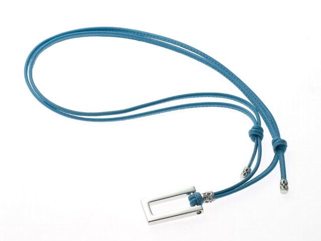 レザーホルダーSQ50‐3 シルバー/ブルー