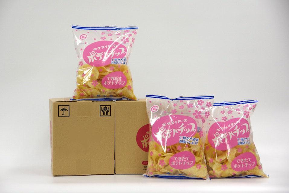 【3月18日〜発送商品】『できたてポテトチップさくらパッケージ』145g×3袋×2箱
