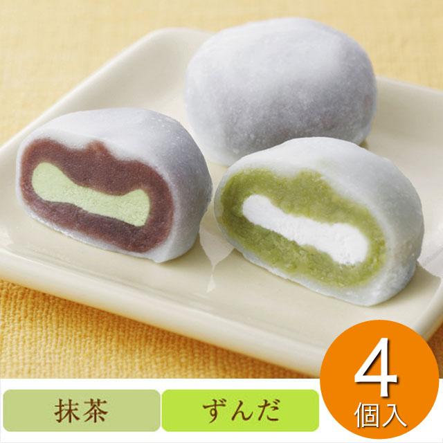 喜久福 2種詰合せ4ヶ入 (抹茶生クリーム/ずんだ生クリーム)