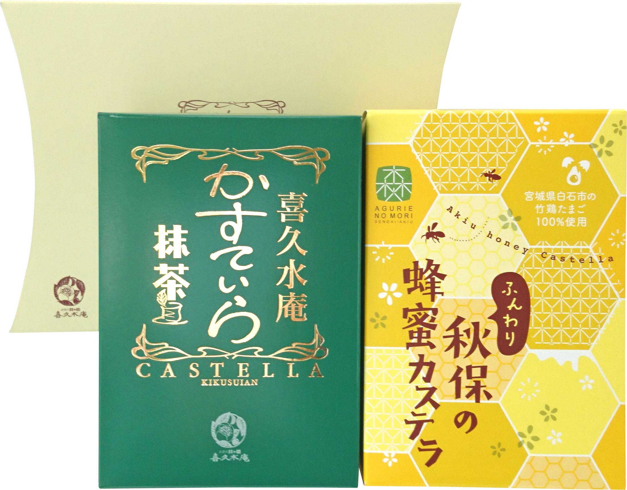 かすてぃらギフト 抹茶・秋保の蜂蜜