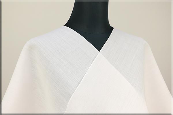 小千谷 本麻長襦袢 オーダー仕立付き! 麻100% 吉新織物 薄ピンク キングサイズ 広幅 男女兼用
