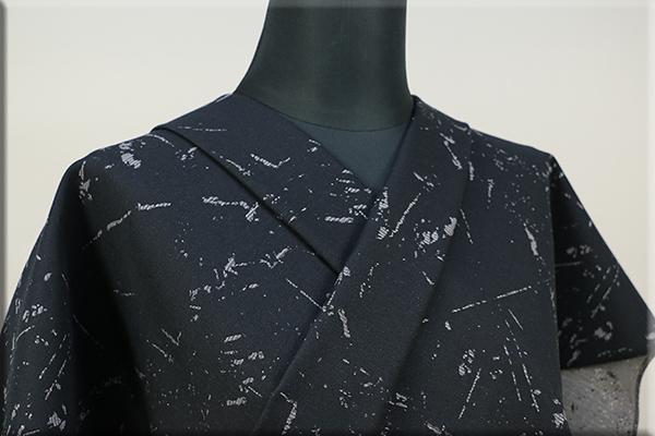 Kimono Factory nono 木綿着物 オーダーお仕立て付き GRITTER(グリッター)Stormストーム 灰