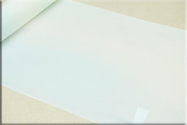 京都浅見謹製 並巾夏紗長襦袢 100% オーダーお仕立付き 菱上布 沖つ風 ブルー