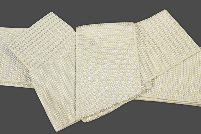 博多織 西村織物 角帯 正絹 浮遊 ベージュ