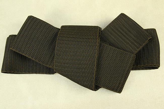 博多織 西村織物 角帯 正絹 浮遊 茶