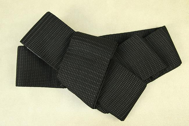 博多織 西村織物 角帯 正絹 浮遊 黒