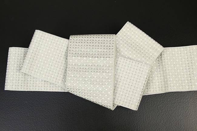 博多織 西村織物 角帯 正絹 切子 白