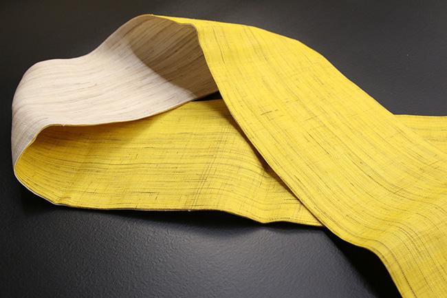 iks 半幅帯 麻きびら小袋帯 黄