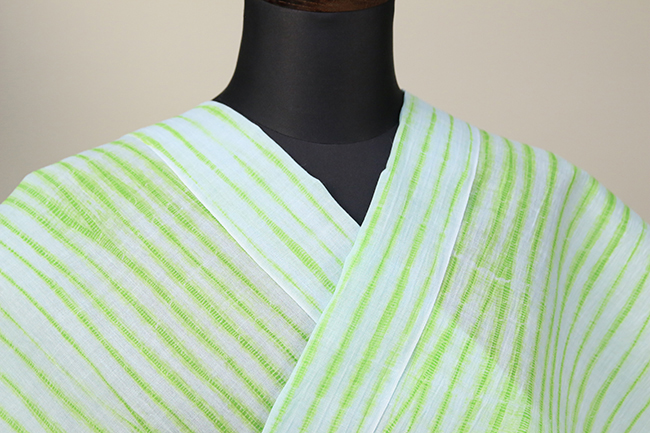立巻絞浴衣(ゆかた) オーダー仕立て付き 藤井絞 緑◆女性にオススメ◆