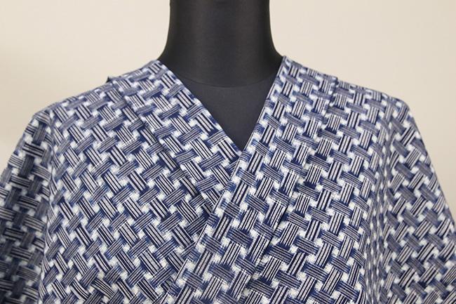 正藍染 久留米絣 木綿着物 オーダーお仕立て付き 織組織柄 藍 ◆女性にオススメ◆