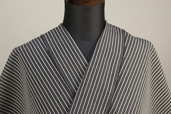 夏のKIPPE(きっぺ) 涼しま よねざわもめん 綿麻 オーダーお仕立て付き 黒 ◆男女兼用◆