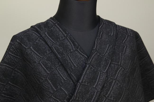 Kimono Factory nono 木綿着物 オーダーお仕立て付き GRITTER(グリッター)クロコ 黒