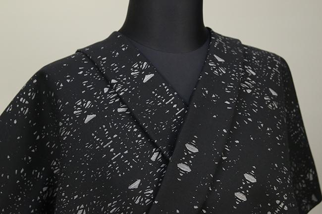 Kimono Factory nono 木綿着物 オーダーお仕立て付き GRITTER(グリッター)カレイド 灰