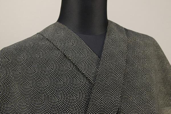夏着物・浴衣(ゆかた) 超長綿 オーダー仕立て付き 鮫小紋 灰 ◆男女兼用◆