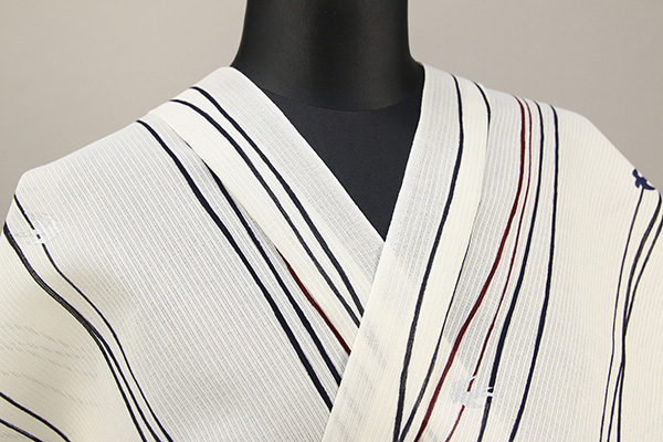 ViVi浴衣(ゆかた) オーダー仕立て付き 燕 白×黒 男性にオススメ