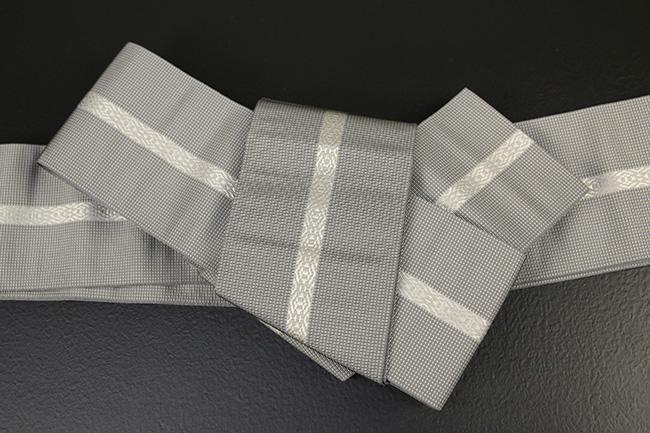 博多織 西村織物 角帯 正絹 悦 グレー