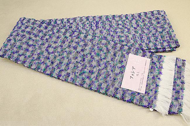 近賢織物 半幅帯 フォシア 紫