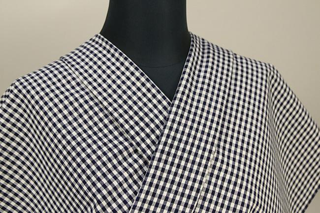 御絲織物 松阪木綿 オーダーお仕立て付き チェック 白×黒