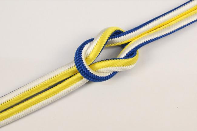 和小物さくら 帯締め 正絹 両面リバーシブル 12青×白×黄