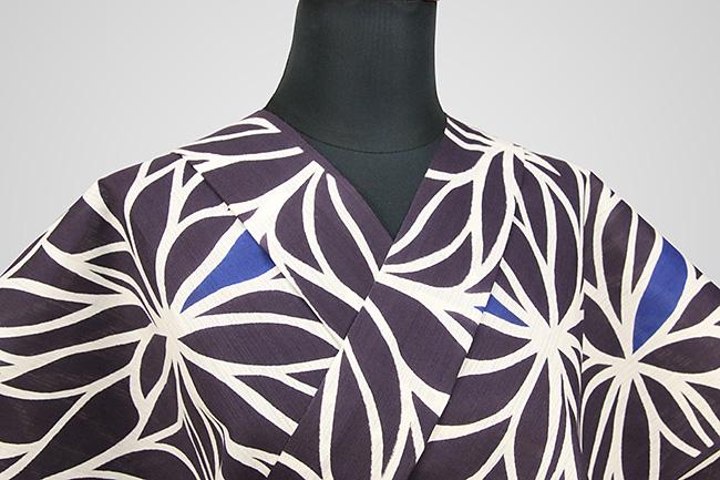 浜松注染浴衣(ゆかた) オーダー仕立て付き 注染 花柄 紫