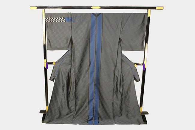 【先行予約商品】あづまやオリジナル スレッドルストリート 京丹後 柴田織物 お召着物 3Dストライプ 反物価格