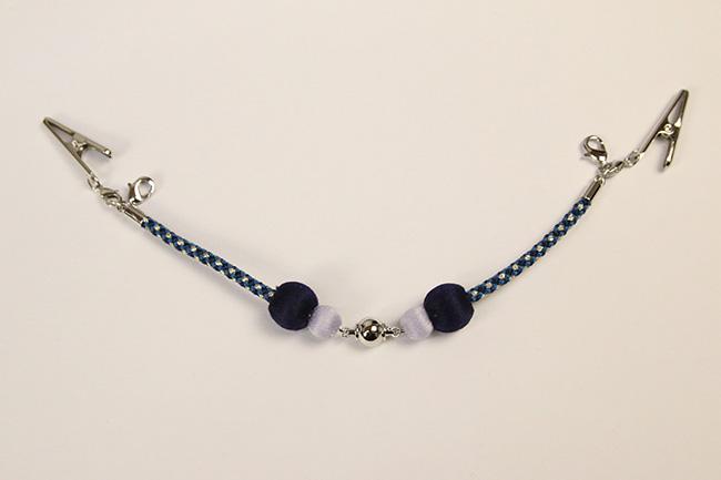 女性用羽織紐 マグネット式 ラメ糸 紺