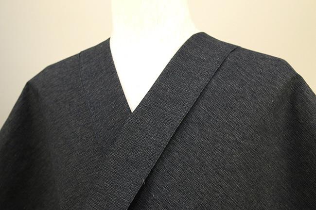 三河木綿 オーダーお仕立付き 洗える普段着着物 沙~いさご~ 濃灰 48-35-4 ◆男女兼用◆