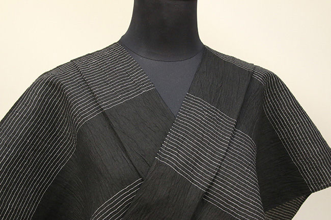 Kimono Factory nono 麻着物 chrome 弦 黒 オーダー仕立て付き