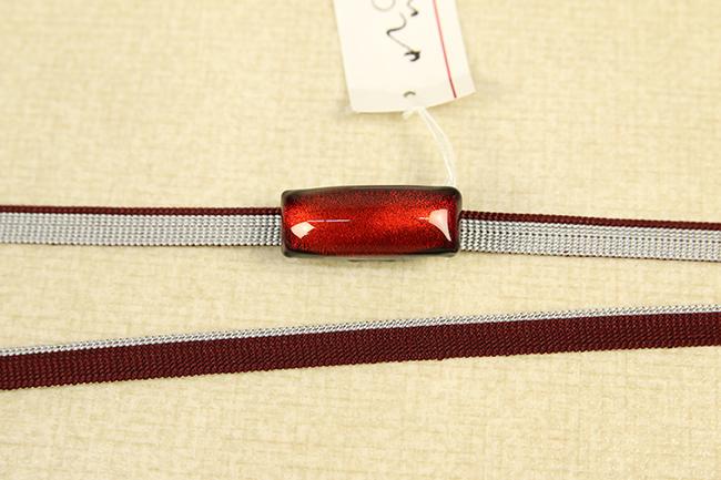 帯締め帯留めセット 2分半紐 ソーダガラス