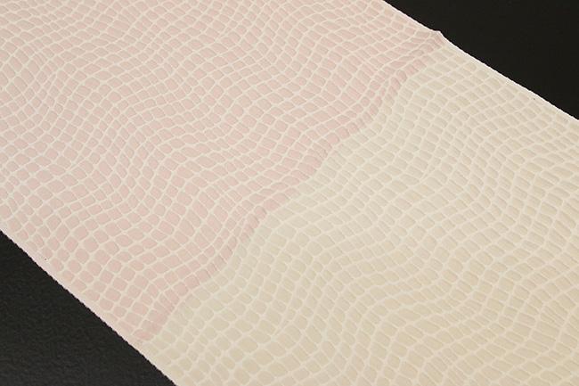 【受注生産品】あづまやオリジナル 帯揚げ ワタマサ クロコダイル チャコールベージュ×灰桜