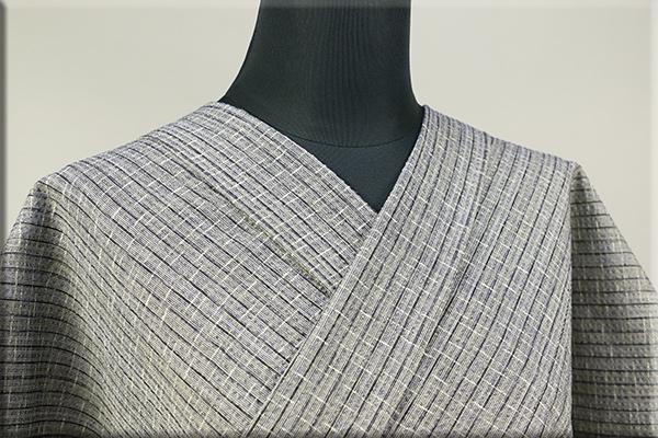 阿波しじら織 木綿きもの オーダーお仕立付き 洗える普段着着物 軽くて涼しい!  092番 Sサイズから身長170cmトールサイズ ◆男女兼用◆
