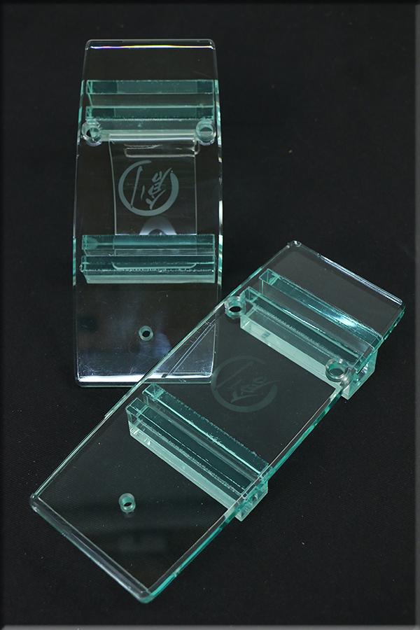 グラスリッパー 透明な下駄 男物 あづまやオリジナル コクーン型 ガラス色  M,L