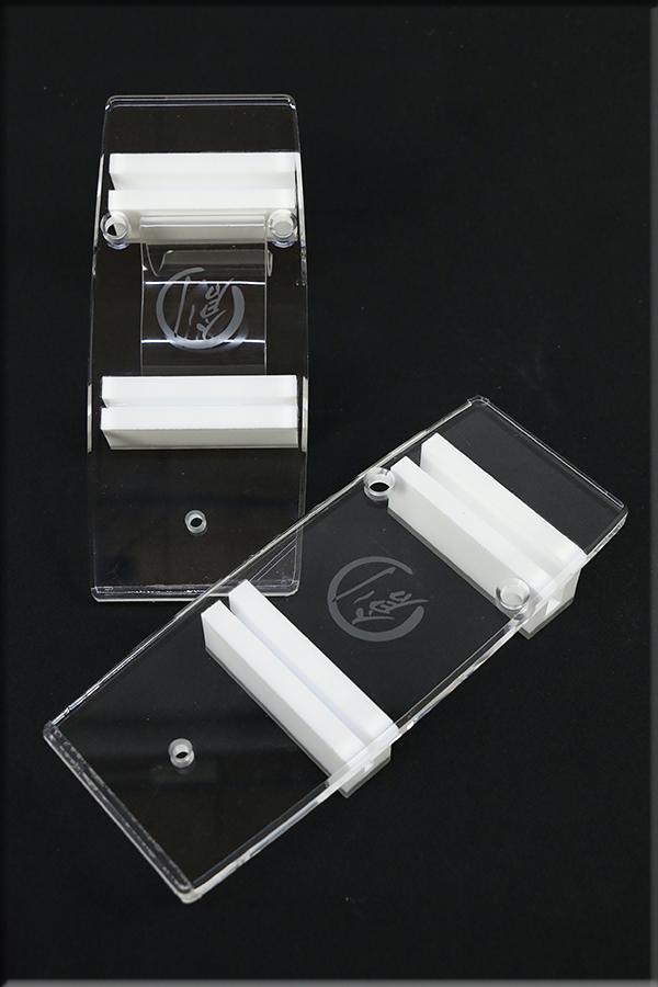 グラスリッパー 透明な下駄 男物 あづまやオリジナル コクーン型 透明色  M,L