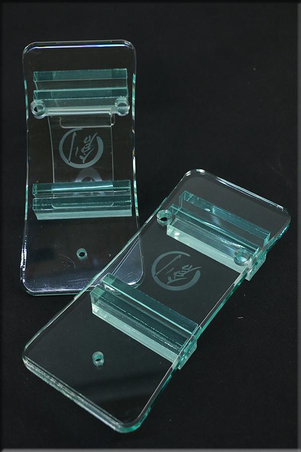 グラスリッパー 透明な下駄 男物 あづまやオリジナル 括れ型 ガラス色  M,L