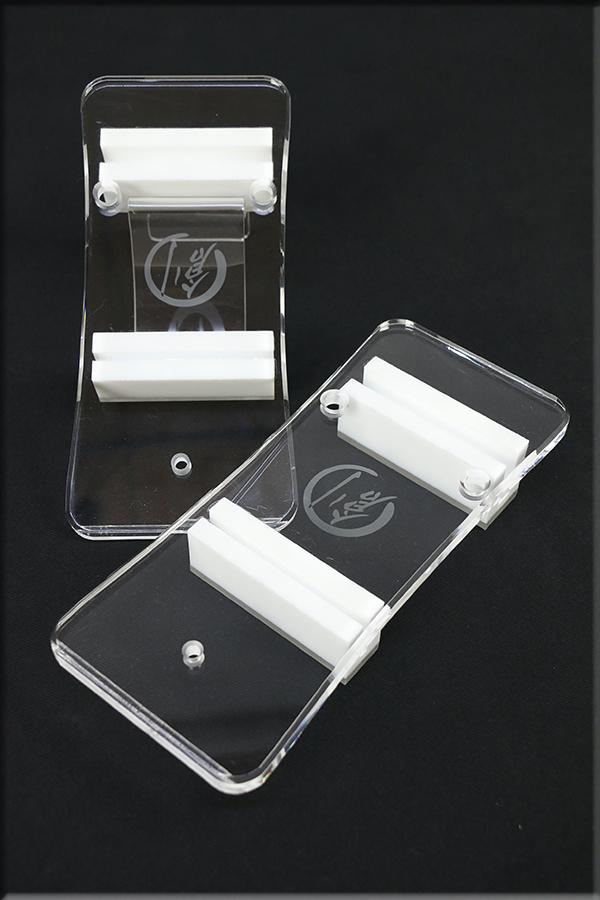 グラスリッパー 透明な下駄 男物 あづまやオリジナル 括れ型 透明色  M,L