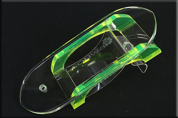 グラスリッパー 透明な下駄 女物 あづまやオリジナル グリーン M