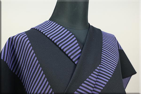 Kimono Factory nono 木綿着物 オーダーお仕立て付き GRITTER(グリッター)スライド 紫