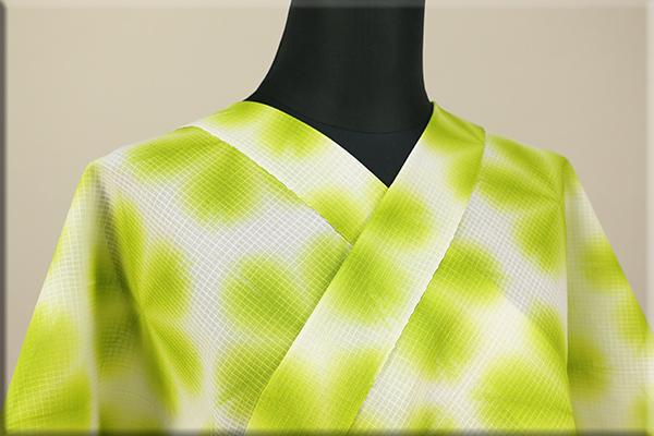 雪花絞浴衣(ゆかた) 綿 オーダー仕立て付き 有松絞  ◆女性にオススメ◆