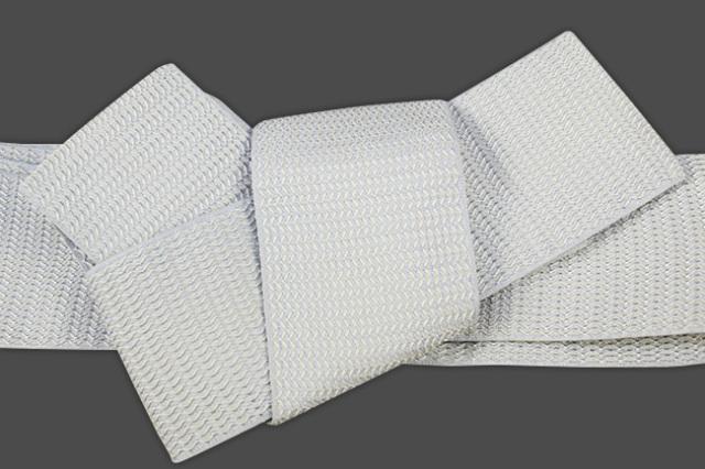 博多織 西村織物 角帯 正絹 浮遊 薄灰