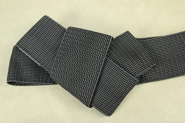 博多織 西村織物 角帯 正絹 浮遊 濃灰