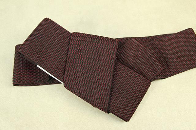 博多織 西村織物 角帯 正絹 浮遊 赤