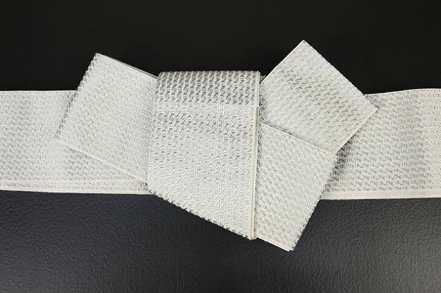 博多織 西村織物 角帯 正絹  道轍 綟鎖 白
