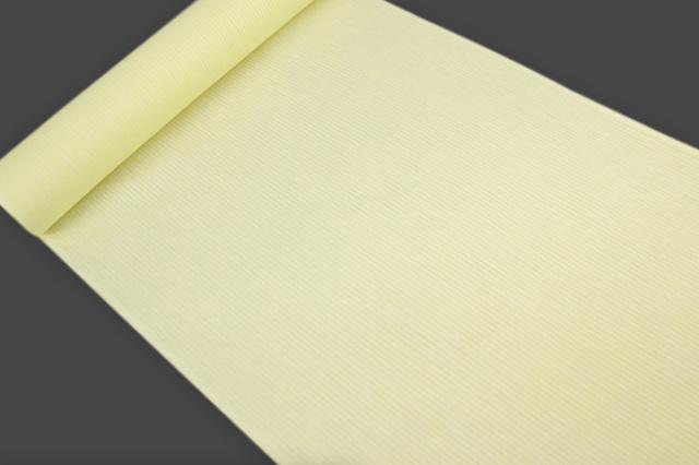 アイスコットン 夏の綿麻長襦袢 オーダー仕立付 近江 綿麻 薄黄 男女兼用