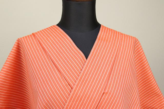 KIPPE(きっぺ) よねざわもめん オーダーお仕立て付き 橙色 ◆男女兼用◆